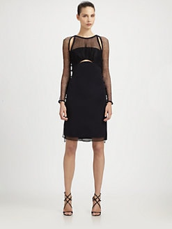 Emilio Pucci - Mesh & Silk Cady Knot Dress