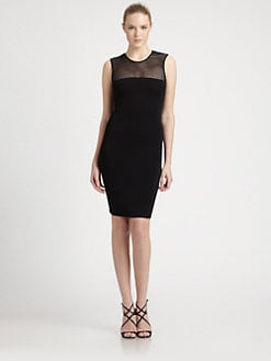 Emilio Pucci - Mesh-Top Jersey Dress