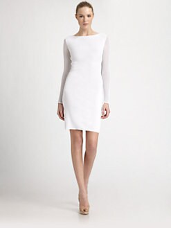 Emilio Pucci - Mesh-Sleeve Jersey Dress