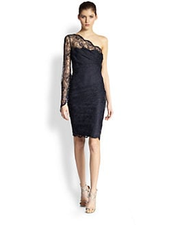 Emilio Pucci - One-Shoulder Lace Dress