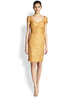 Emilio Pucci - Sweetheart Neckline Lace Dress