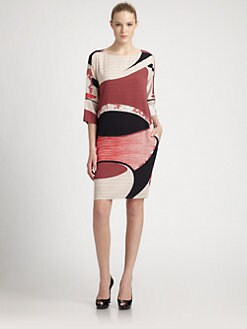 Emilio Pucci - Silk Boatneck Dress