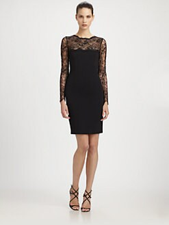 Emilio Pucci - Lace-Trimmed Stretch Wool Dress