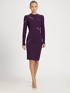 Emilio Pucci - Stretch Wool Slash Dress