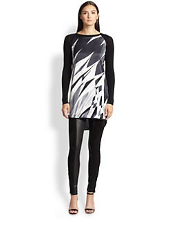 Emilio Pucci - Silk-Front Knit Top