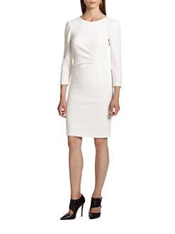 Emilio Pucci - Ruched Stretch Wool Dress