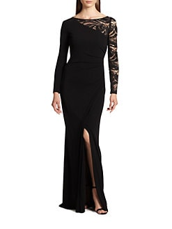 Emilio Pucci - Lace-Sleeve Gown