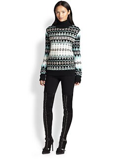Emilio Pucci - Sequined Wool Fair Isle Sweater