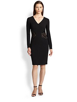 Emilio Pucci - Embroidered V-Neck Dress