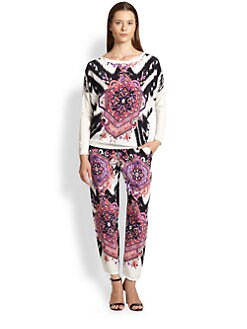 Emilio Pucci - Printed Silk-Front Tee