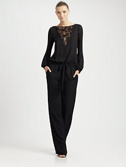 Emilio Pucci - Lace-Detail Jumpsuit