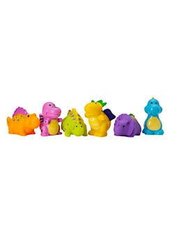 Elegant Baby - Six-Piece Dinosaur Party Squirties Bath Toys