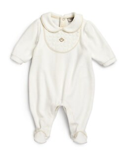 Armani Junior - Infant's Quilted Velour Footie
