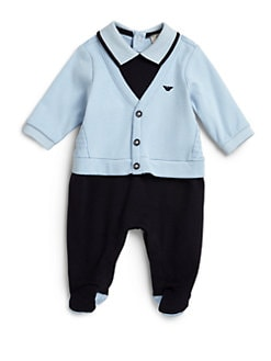 Armani Junior - Infant's Cardigan Footie