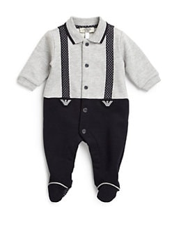 Armani Junior - Infant's Suspenders Footie