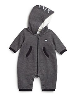 Armani Junior - Infant's Melange Hooded Romper
