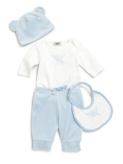 Armani Junior - Infant's Four-Piece Bodysuit, Pants, Hat & Bib Set