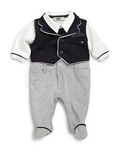 Armani Junior - Infant's Two-Piece Vest & Footie Set
