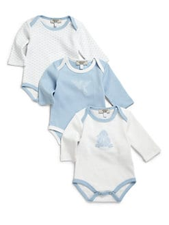 Armani Junior - Infant's Three-Piece Cotton Bodysuit Set