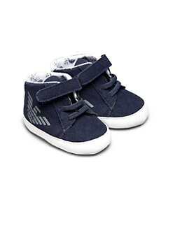 Armani Junior - Infant's Eagle Logo High-Top Sneakers
