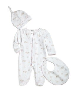 Kissy Kissy - Infant's Three-Piece Playtime Footie, Hat & Bib Set