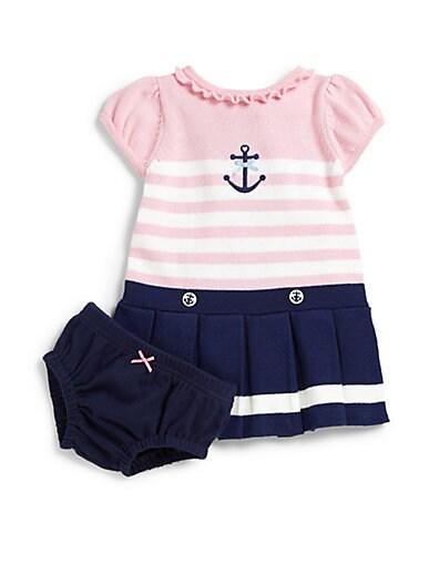 57e5d9d86d8 Hartstrings Infants Anchor Sweater Dress   Bloomers Set Taffy Pink ...