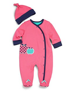 Offspring - Infant's Two-Piece Apple Footie & Hat Set