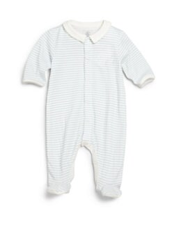 Petit Bateau - Infant's Star Print Collared Footie