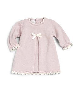 Paz Rodriguez - Infant's Crocheted-Trimmed Wool Sweater Dress