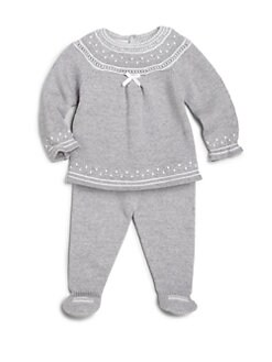 Paz Rodriguez - Infant's Two-Piece Wool Sweater &amp; Footed Leggings Set <br>