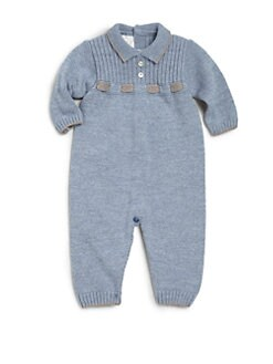 Paz Rodriguez - Infant's Color-Tipped Wool Coverall