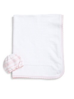 Kissy Kissy - Infant's Two-Piece Pima Cotton Hat & Blanket Set