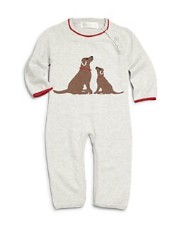 Lucky Jade - Infant's Cotton & Cashmere Labrador Coverall