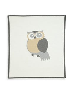 Lucky Jade - Infant's Cotton & Cashmere Owl Blanket