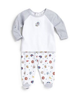 Kissy Kissy - Infant's Two-Piece Wee Warriors Top & Footed Pants Set