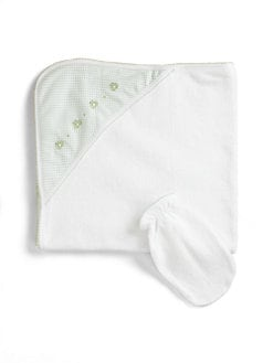 Kissy Kissy - Infant's Hooded Towel/Green Frog