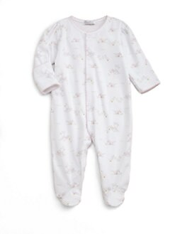 Kissy Kissy - Infant's Bunny and Duckie Print Footie/Pink