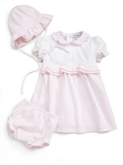 Kissy Kissy - Infant's Gingham Dress, Hat and Bloomer Set