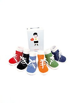 Trumpette - Infant's (0-12mo) Six-Piece Johnny Sock Set