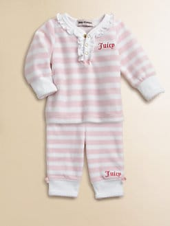 Juicy Couture - Infant's Two-Piece Velour Top & Pants Set