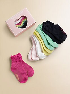 Juicy Couture - Infant's Six-Pair Ruffled Socks Set