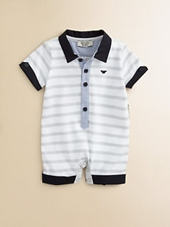Armani Junior - Infant's Striped Polo Coverall