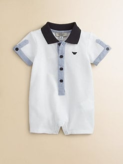 Armani Junior - Infant's Polo Coverall