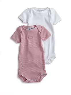 Petit Bateau - Infant's Two-Piece Cotton Bodysuit Set