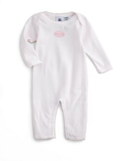 Petit Bateau - Infant's Striped Coverall