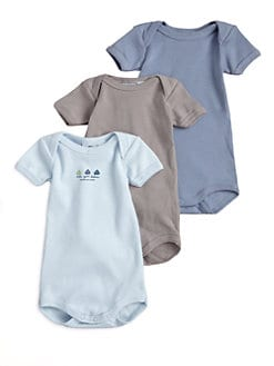 Petit Bateau - Infant's Three-Piece Bodysuit Gift Set