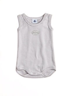 Petit Bateau - Infant's Striped Cotton Bodysuit