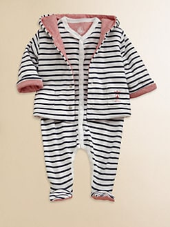 Petit Bateau - Infant's Reversible Striped Jacket