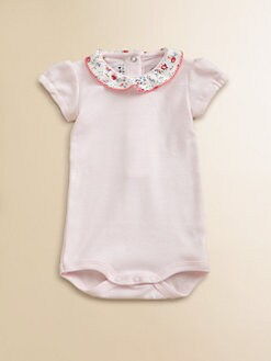 Petit Bateau - Infant's Collared Cotton Bodysuit