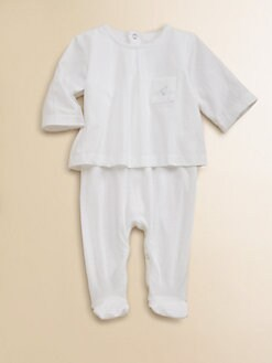 Pendulum - Infant's Layered-Look Textured Footie